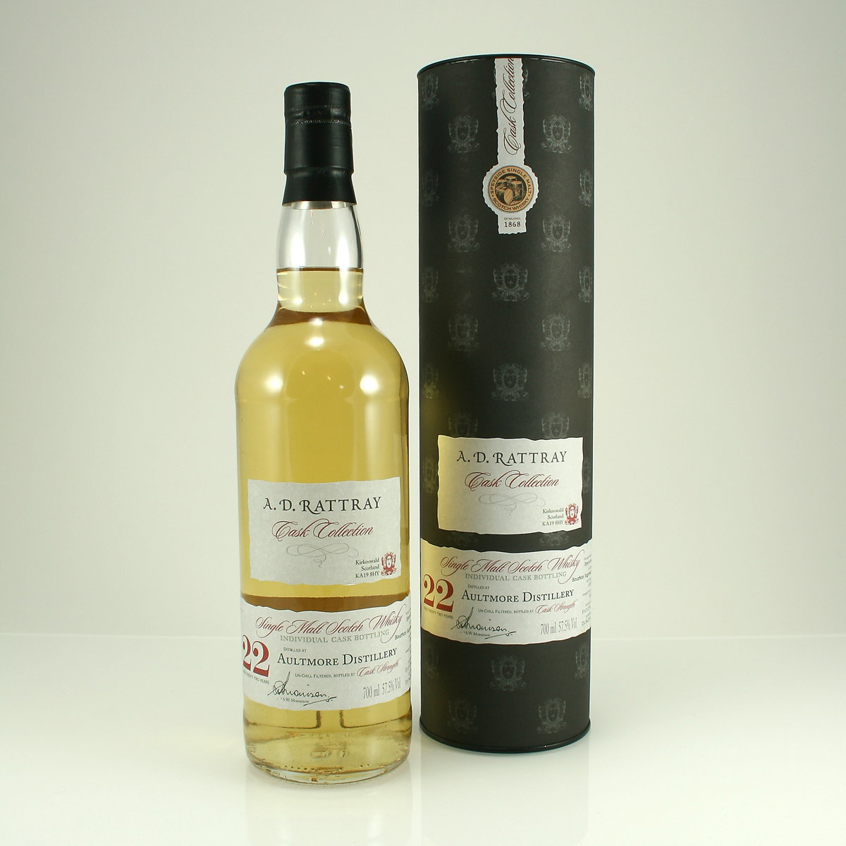 AULTMORE 22 Y/O A.D. Rattray 57.5% 70cl