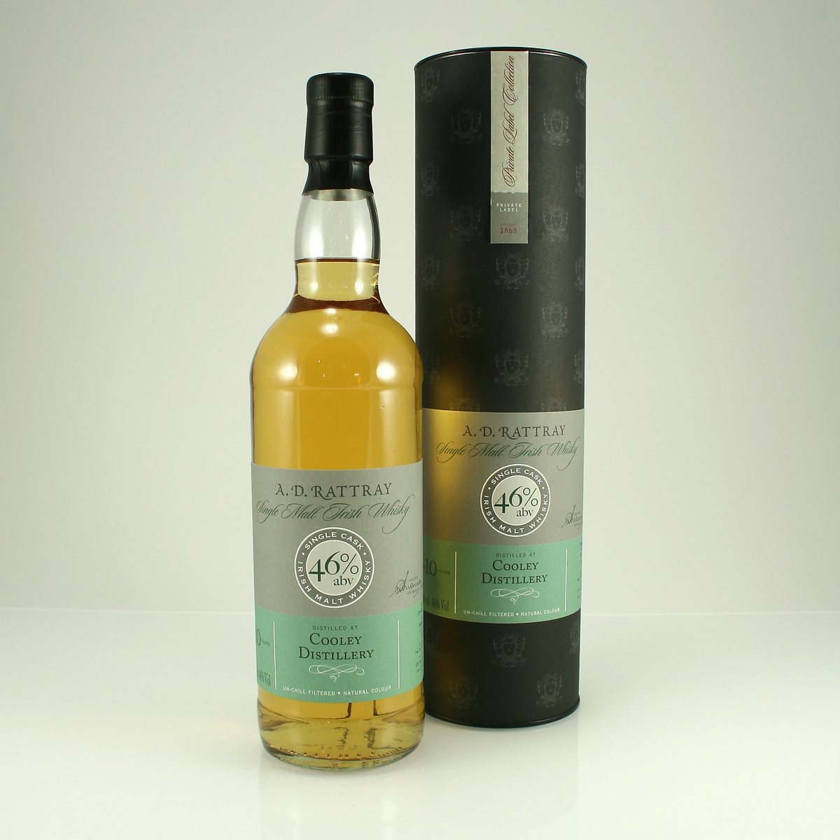 COOLEY 10 Y/O Irish Malt Whiskey 46% A.D. Rattray