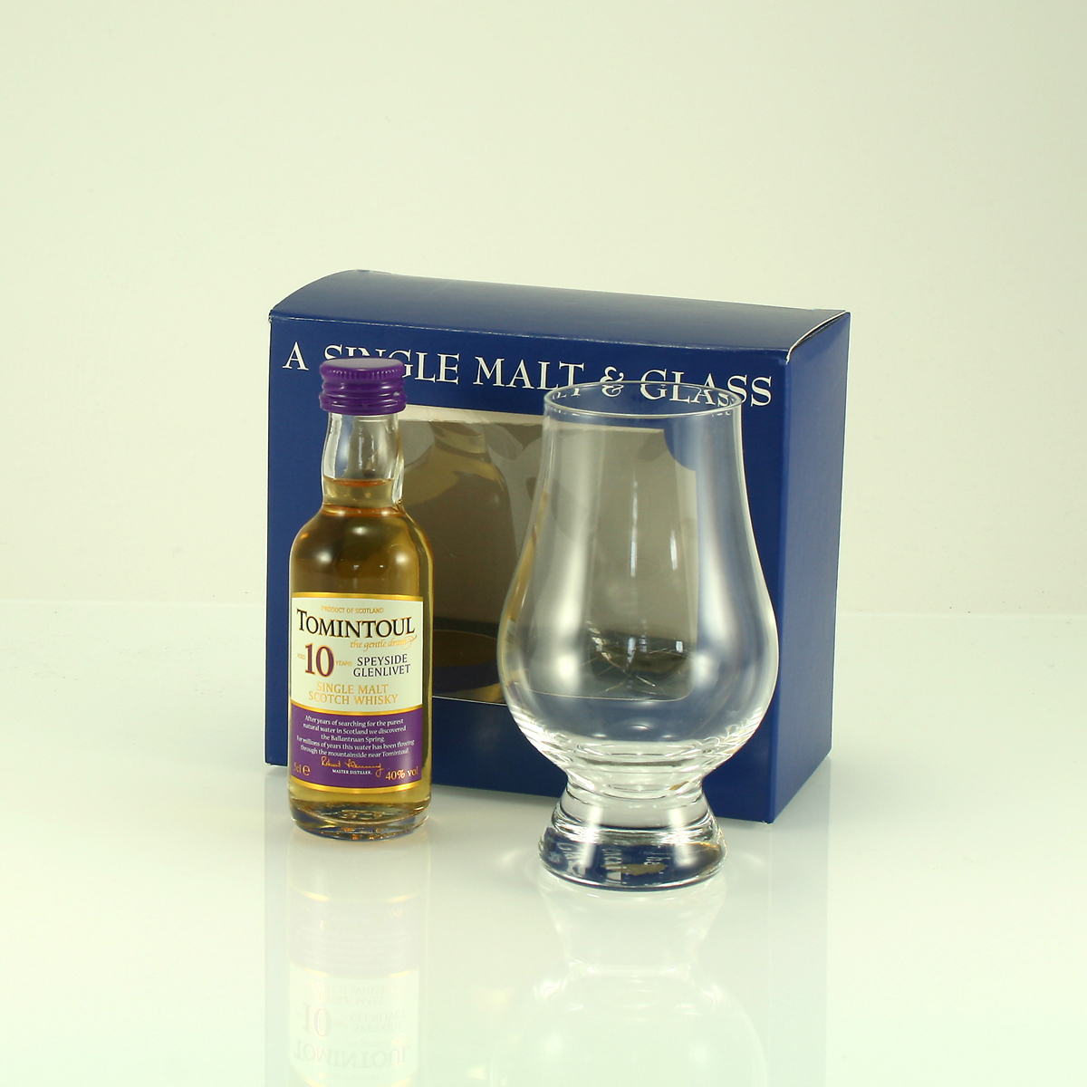 TOMINTOUL 10 Y/O Gift Pack with Glencairn Glass 40% 5cl