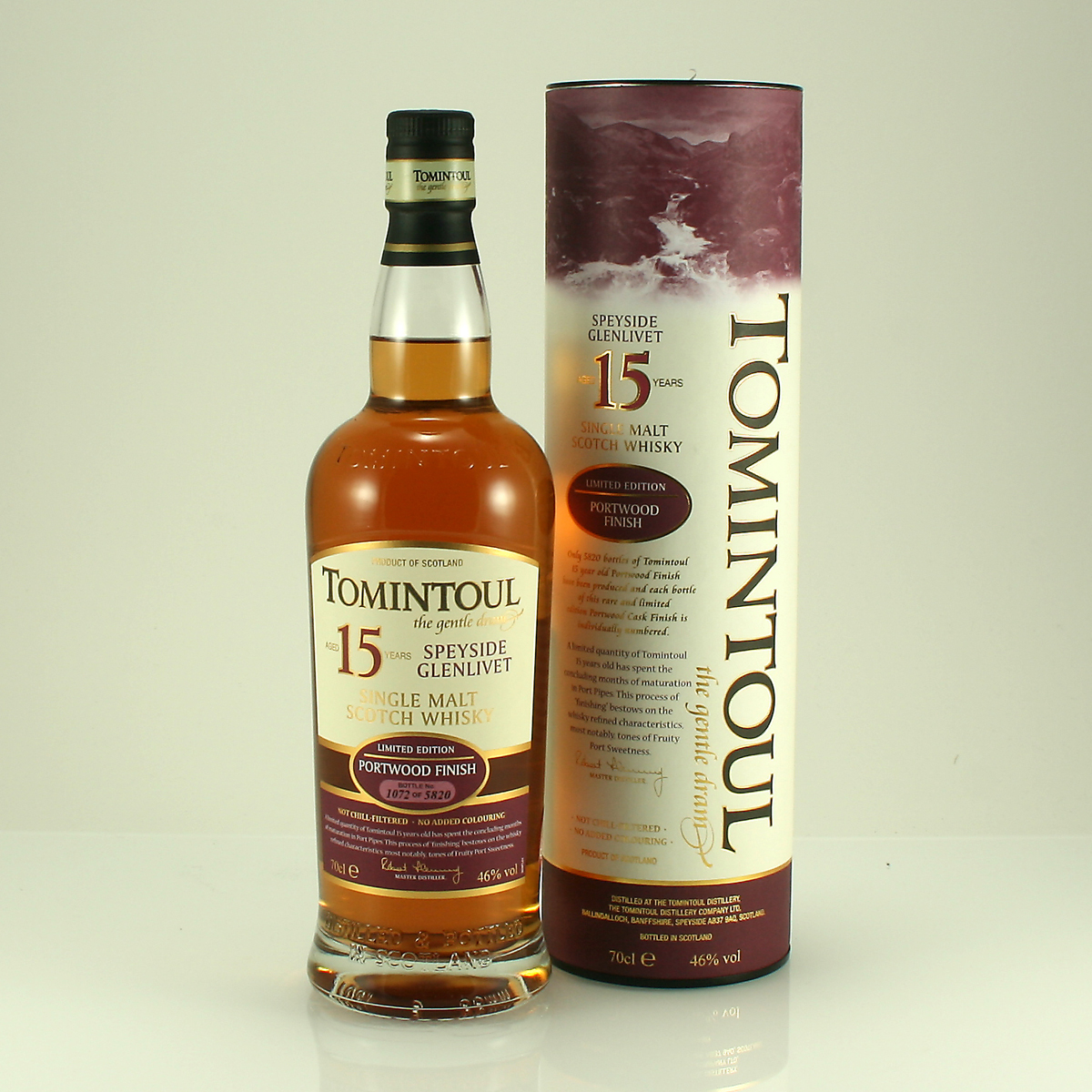 TOMINTOUL 15 Y/O Portwood Finish 46% 70cl
