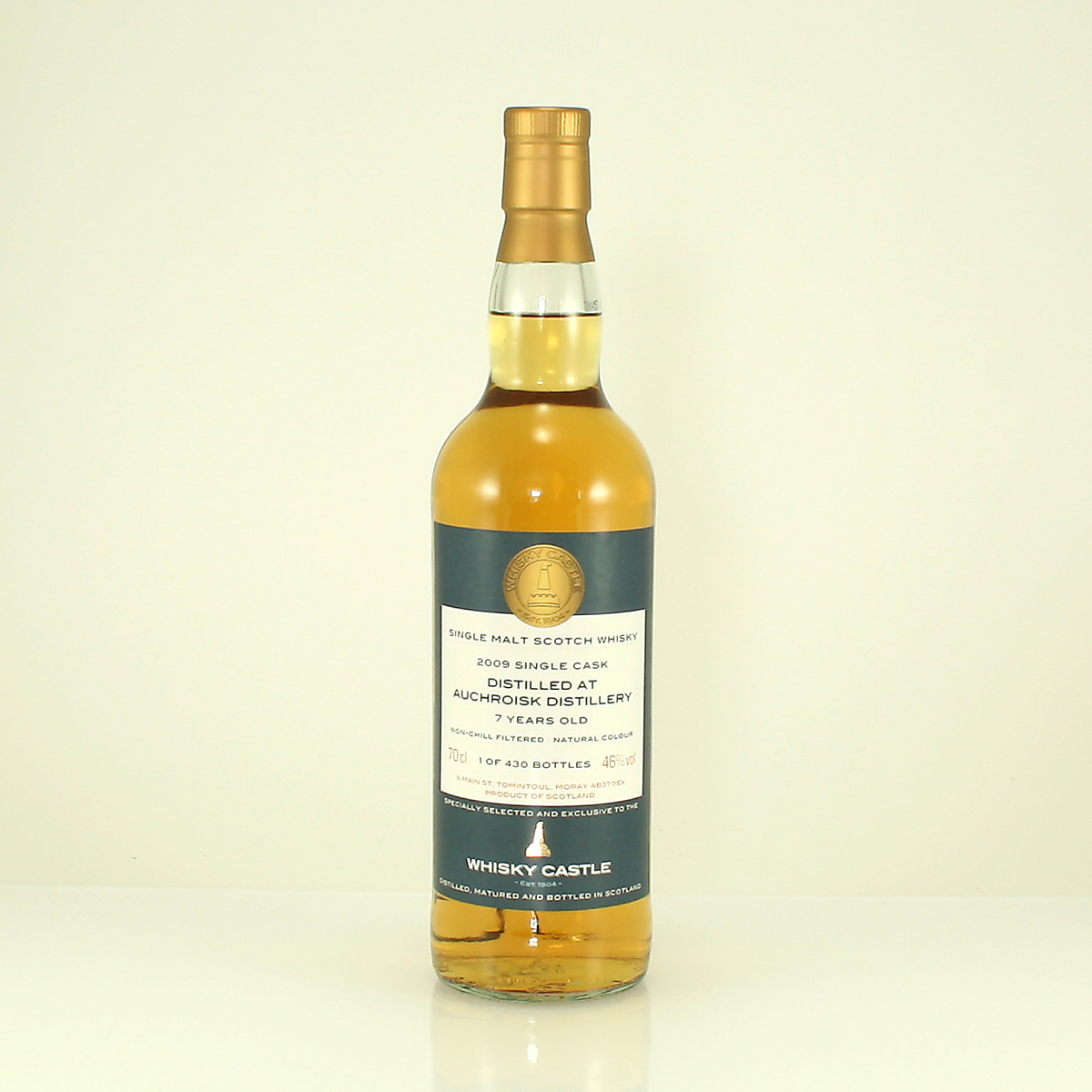 AUCHROISK 7 Y/O Whisky Castle Bottling 46% 70cl