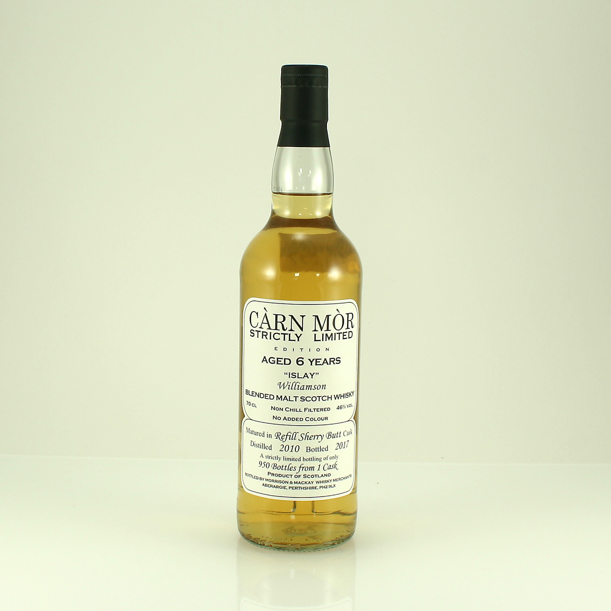 WILLIAMSON 6 Y/O Carn Mor Strictly Limited 46% 70cl