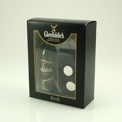 GLENFIDDICH 12 Y/O Gift Pack with Cufflinks 40% 5cl