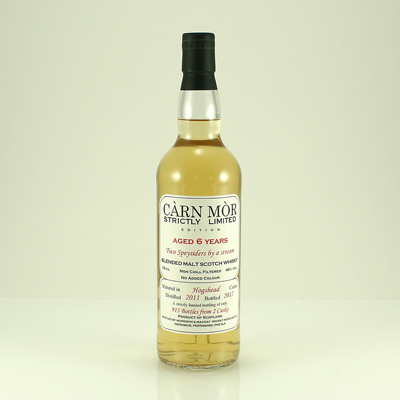 TWO SPEYSIDERS BY A STREAM 6 Y/O Carn Mor Strictly Limited 46% 70cl