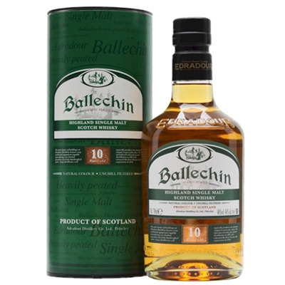 BALLECHIN 10 Y/O Heavily Peated 46% 70cl